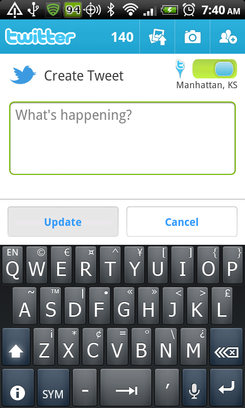 Android Swype abc uppercase