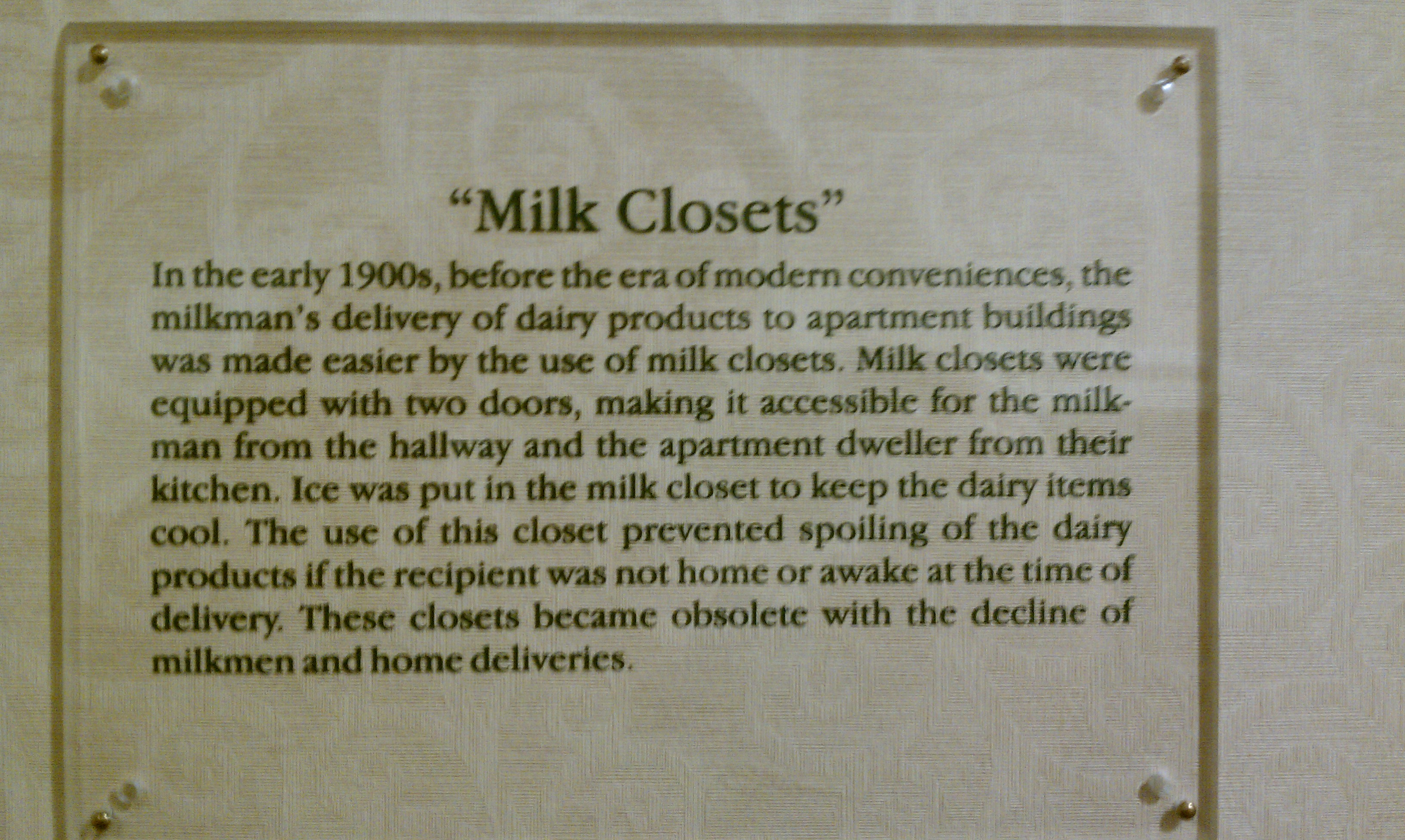 Milk Closet description