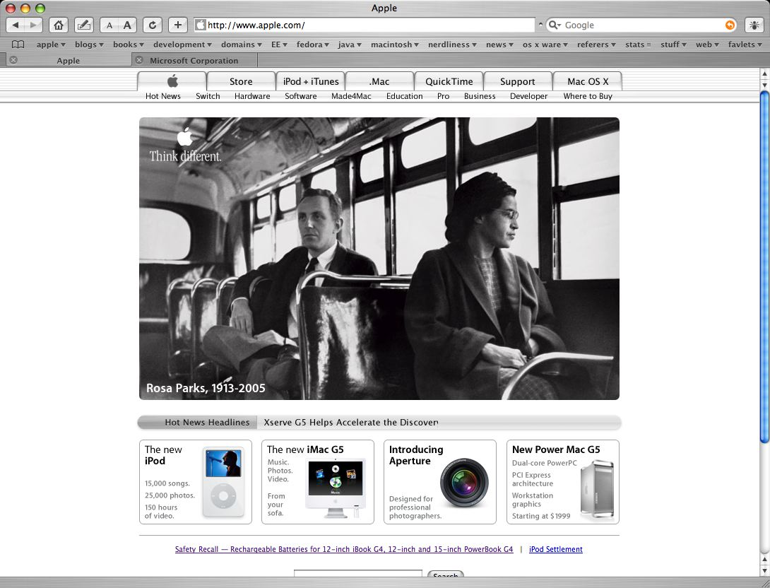Apple Think Different Rosa Parks